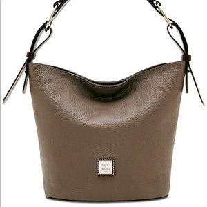 Dooney & Burke Henley Feedbag Taupe Shoulder Bag